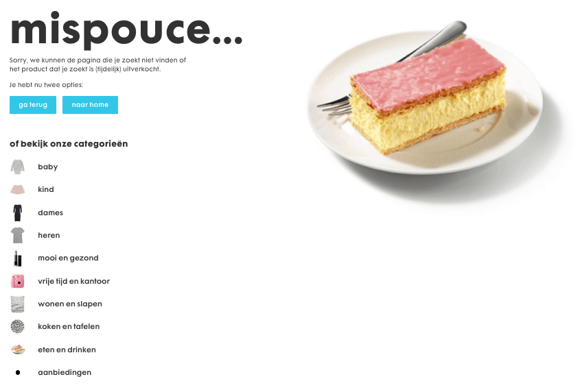 404 pagina HEMA