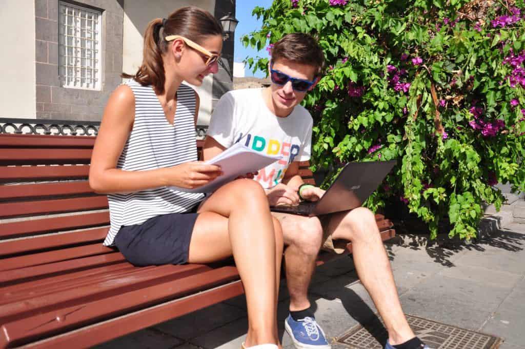 Maarten en Vanessa Workation Las Palmas