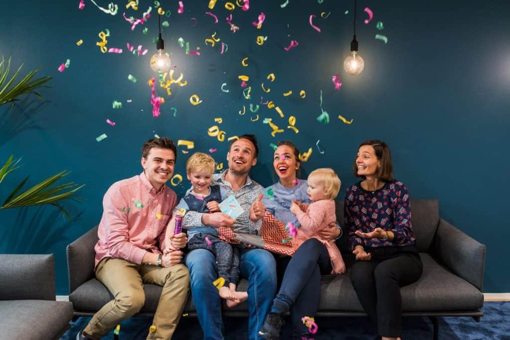 samen met Maarten en Vanessa successen vieren