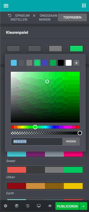 kleuren SYSitor zonder CSS