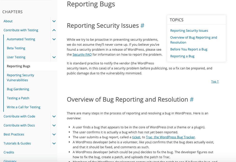 Wordpress updaten bugs