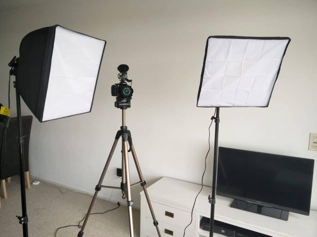 lampen gebruiken voor eerste video