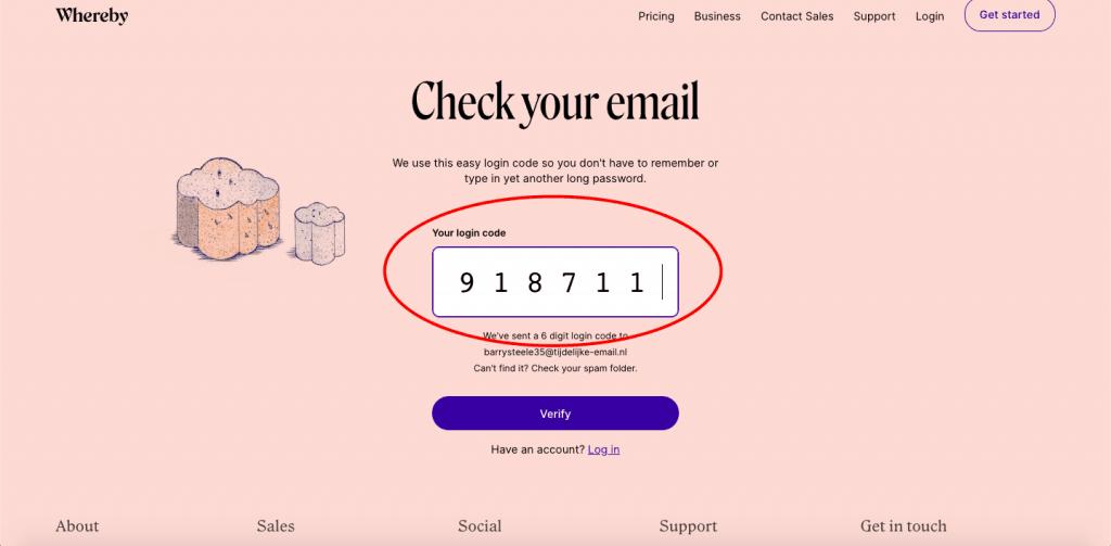 Whereby e-mail verificatie