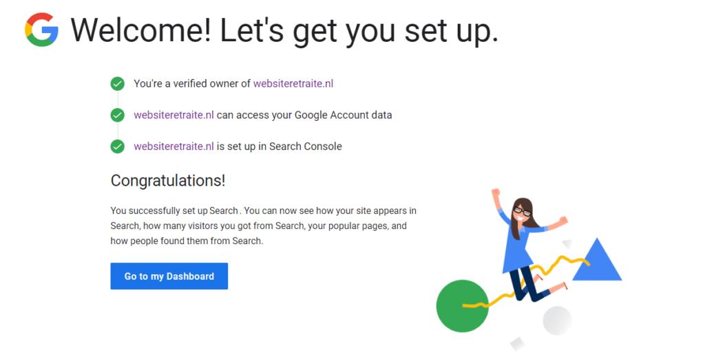 Google is gekoppeld aan jouw website