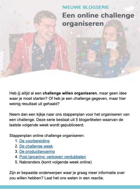 e-mailmarketing vormgeving