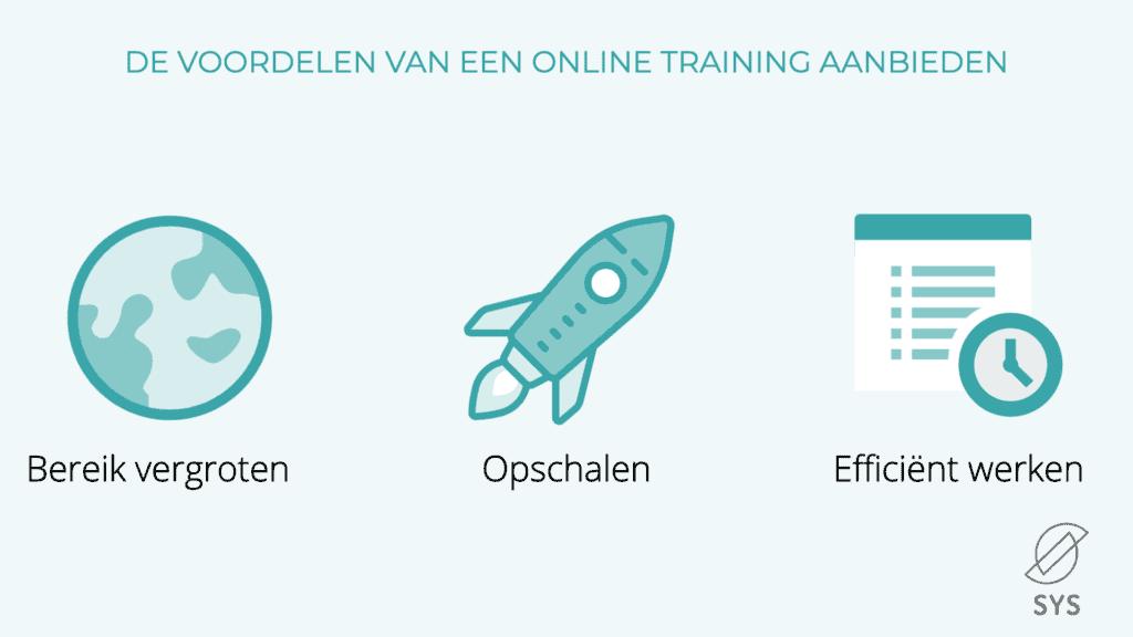 voordelen online training aanbieden