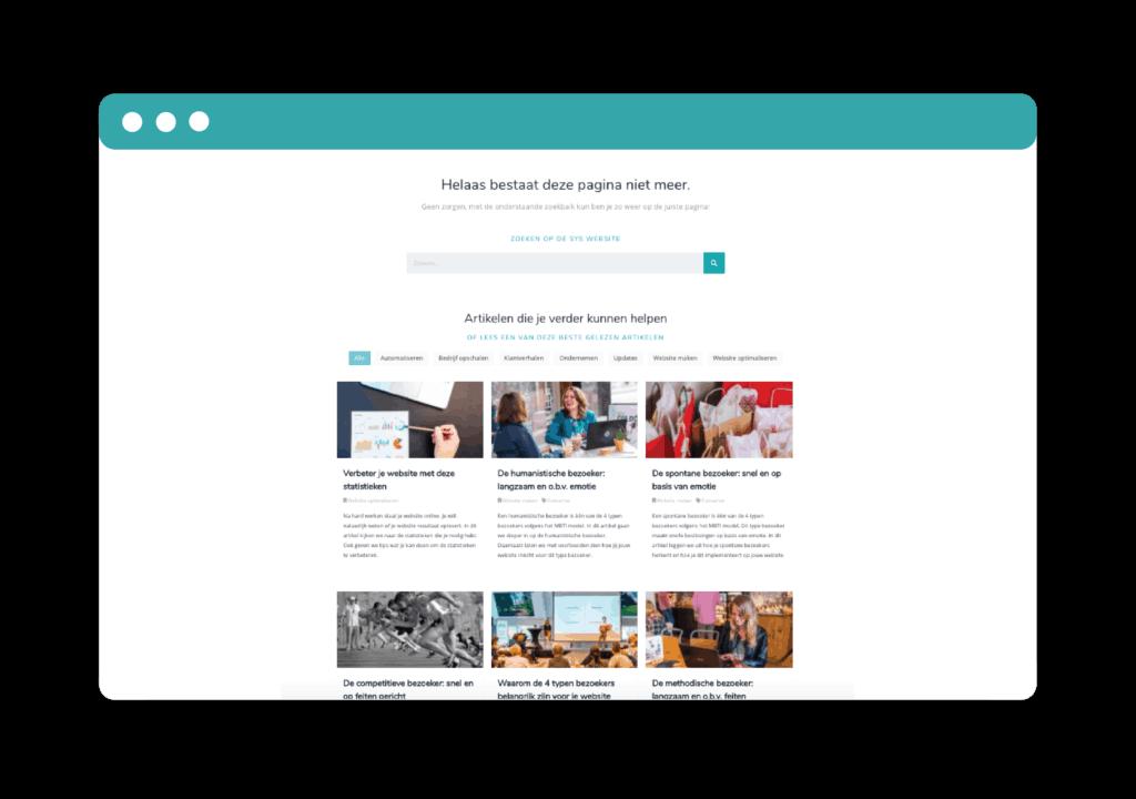 404 pagina - gebruiksvriendelijke website
