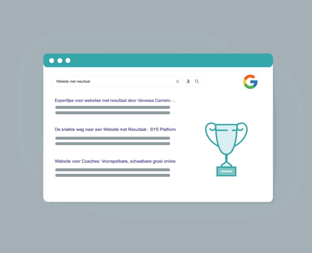 gebruiksvriendelijke website - hoger in Google