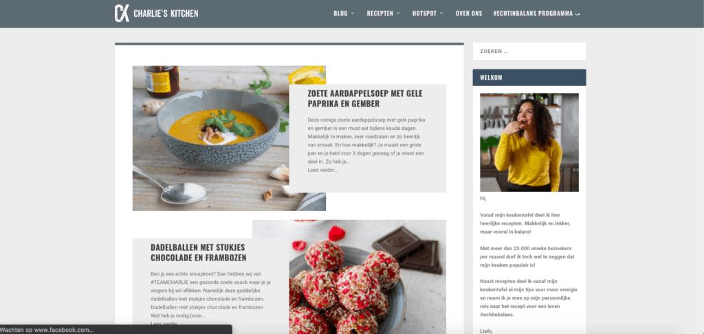 voorbeeld recepten blog