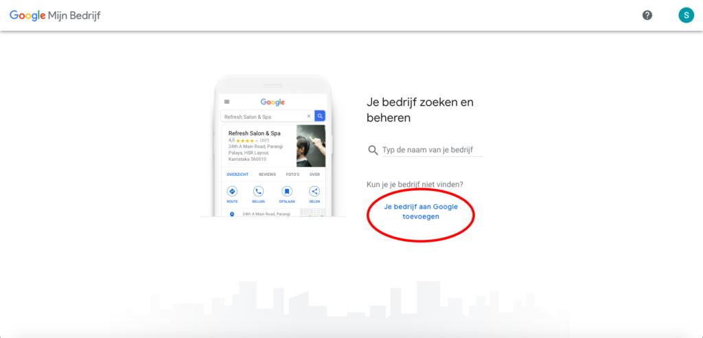 Bedrijf toevoegen aan Google Mijn Bedrijf