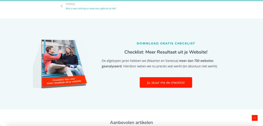 een Website met resultaat - maillijst opbouwen