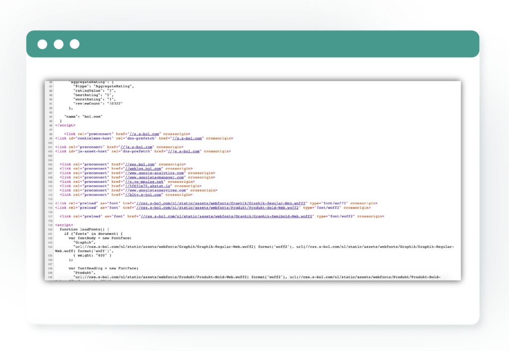 voorbeeld van broncode