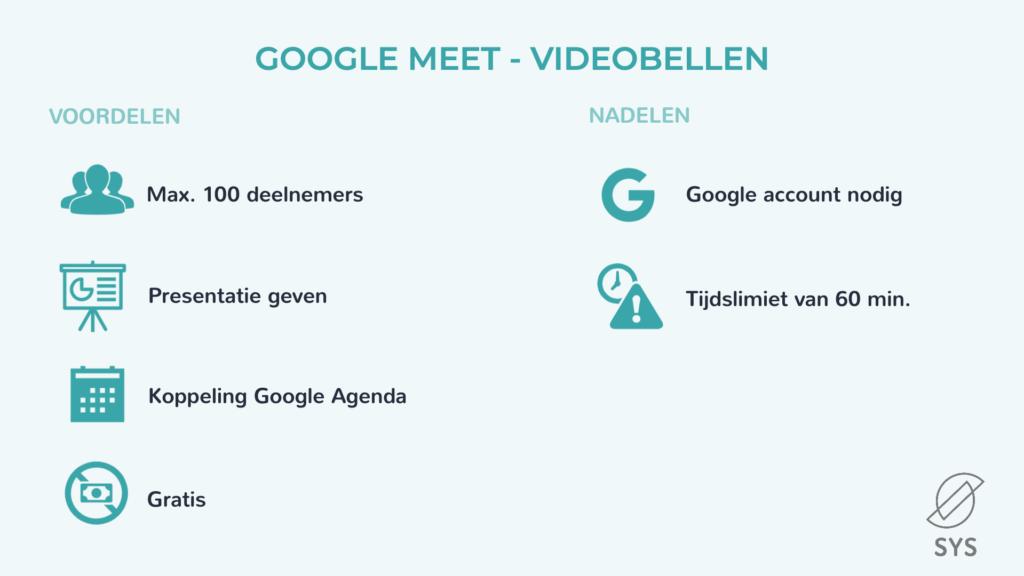 Google Meet - voor- en nadelen