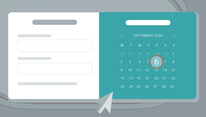 Agenda voor afspraken op website