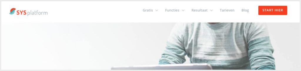 Menu website inrichten
